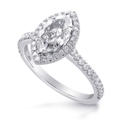 Оправа: кольцо с крупным бриллиантом маркиз