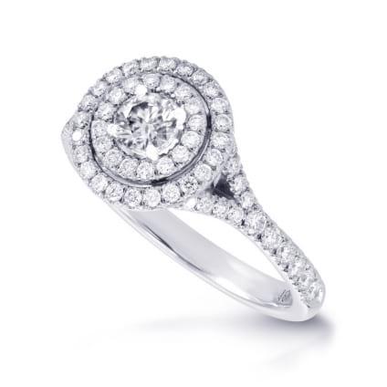 Оправа кольцо для бриллианта от 0,30 карата