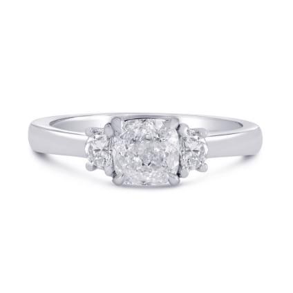 Оправа - кольцо с тремя бриллиантами