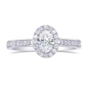 Оправа тонкого кольца для овального бриллианта