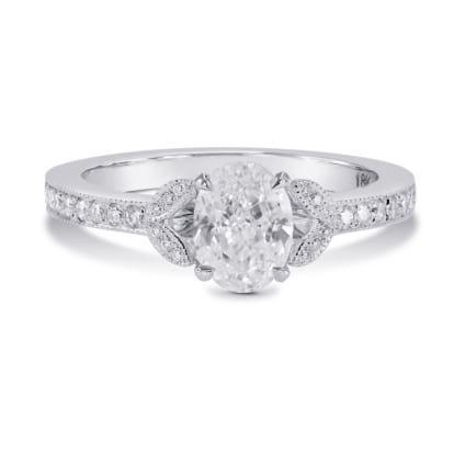 Оправа - помолвочное кольцо с бриллиантом Овал