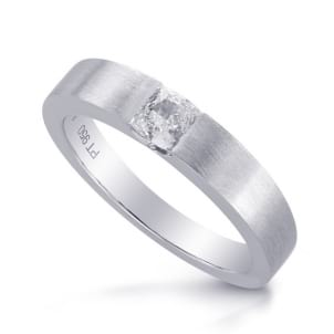 Оправа мужское кольцо с бриллиантом