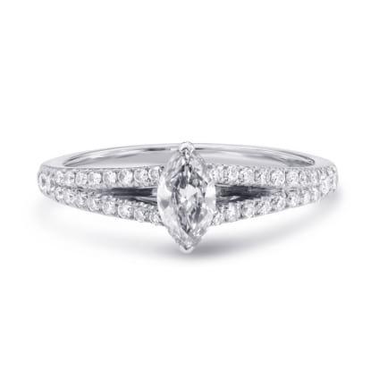 Оригинальная оправа кольца для бриллианта Маркиз