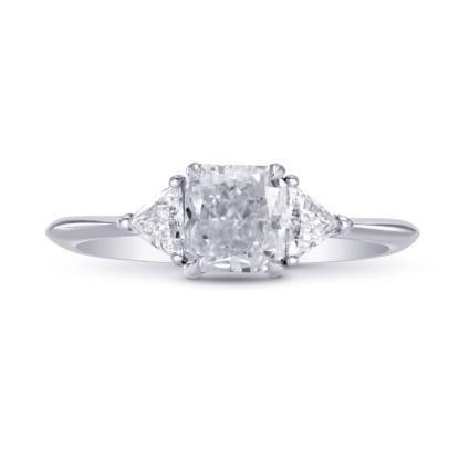 Оправа кольца для центального и 2 боковых бриллиантов