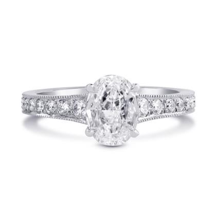 Оправа: кольцо для овального бриллианта 1 карат