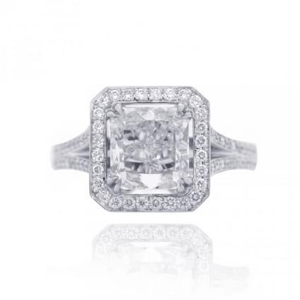 Оправа - кольцо для бриллианта радиант 2 карата