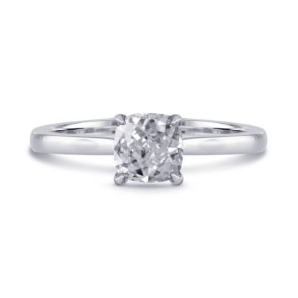 Классическая оправа кольцо с бриллиантом Радиант