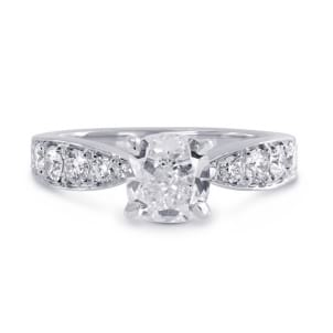 Оправа: ювелирное кольцо с бриллиантом 1 карат
