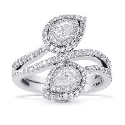 Оригинальная оправа кольца с грушевидными бриллиантами