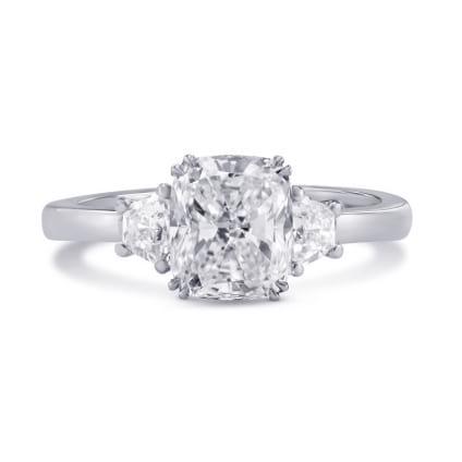 Оправа: тонкое кольцо с 3 бриллиантами