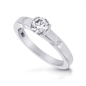 Стильная оправа для кольца 0.70 карата
