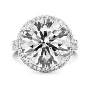 Оправа для кольца с бриллиантом 10 карат Круг