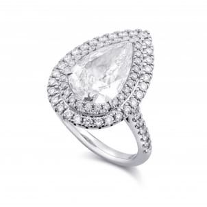Оправа для крупного бриллианта Капля 3 карата