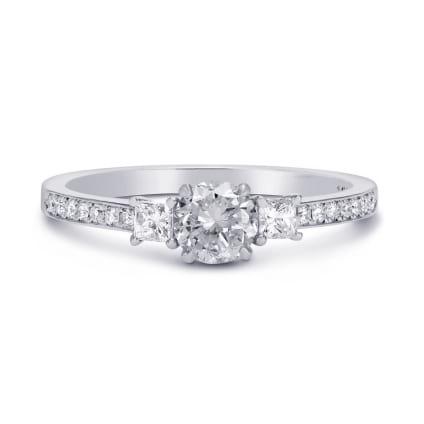 Оправа кольца с 2 боковыми бриллиантами Принцесса