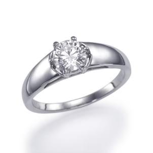 Красивая оправа кольца для круглого бриллианта