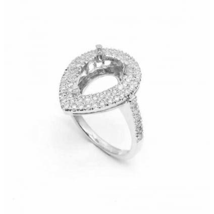 Оправа кольца для крупного бриллианта Капля