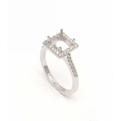 Тонкая оправа кольца для крупного бриллианта