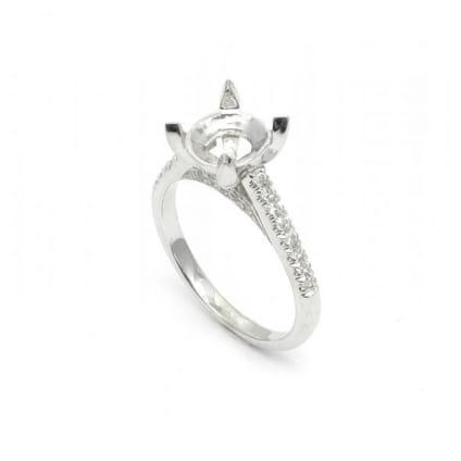 Оправа: кольцо с большим бриллиантом от 2 карат