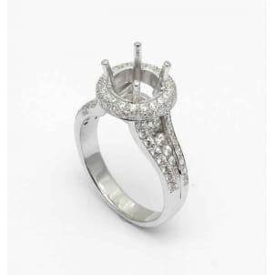 Оправа: кольцо с бриллиантом Круг 2 - 4 карата