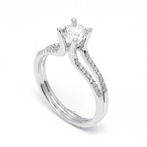 Оправа двойного кольца для бриллианта от 1 карата