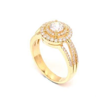 Оправа кольцо из розового золота с бриллиантами