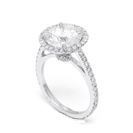 Оправа кольца для крупного бриллианта от 4 карат