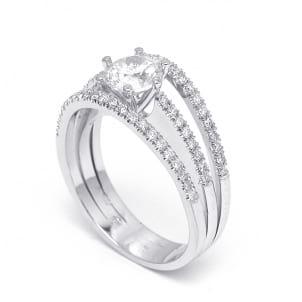 Бриллиантовая оправа кольца для вставки 0.70 карата