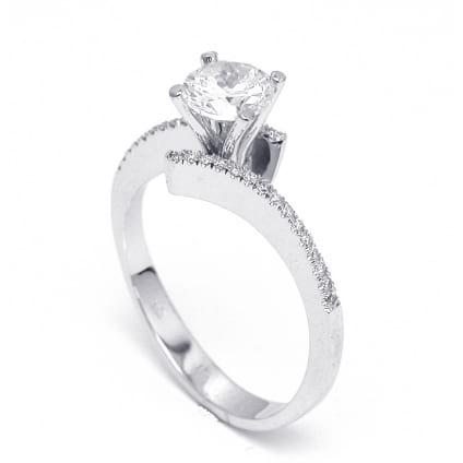 Оправа помолвочного кольца с бриллиантом