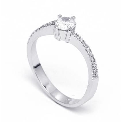 Оправа кольца для центрального бриллианта от 0.30 карат
