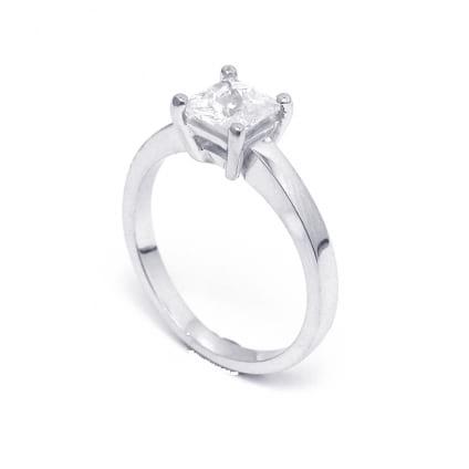 Кольцо - оправа для бриллианта квадратной огранки