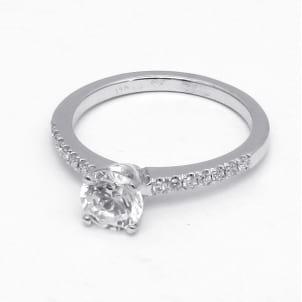 Оправа - тонкое кольцо для бриллианта от 1 карата