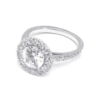 Оправа кольца с бриллиантов в касте с ободком