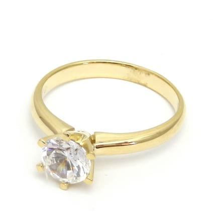 Оправа из золота - кольцо с бриллиантом