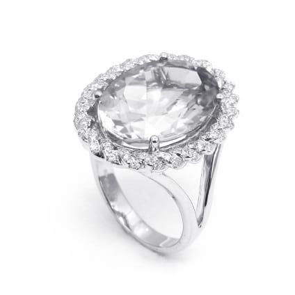 Оправа кольца для крупного бриллианта Овал