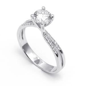 Золотая оправа: кольцо для бриллианта 1.5-2 карата