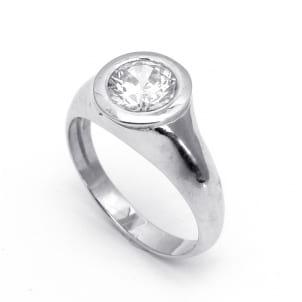 Стильная оправа кольца для бриллианта 1 карат