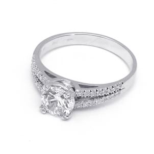 Оправа - кольцо с бриллиантом 2 карата