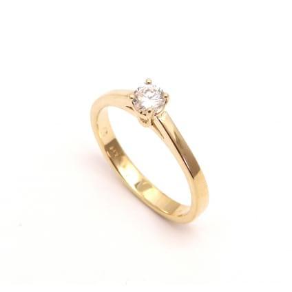 Оправа кольцо розовое золото для одиночного бриллианта