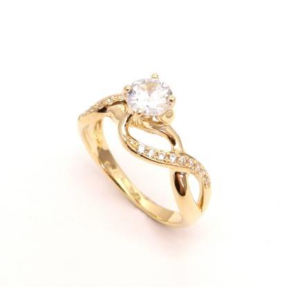 Оправа: помоволвочное кольцо с бриллиантом