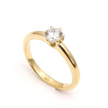 Оправа недорогого кольца для бриллианта от 0.70 карат
