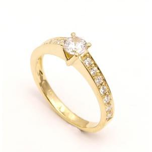 Бриллиантовое кольцо - оправа для камня от 0.50 карат