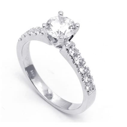 Бриллиантовая оправа для круглого бриллианта один карат