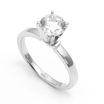 Оправа кольца  для одиночного бриллианта один карат