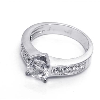 Оправа женского кольца для бриллианта от 0.7 карата