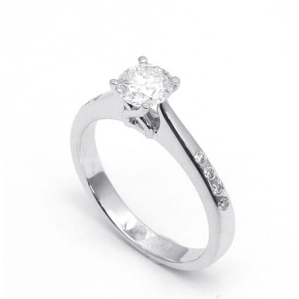Оправа кольца для бриллианта от 0.7 карата круг