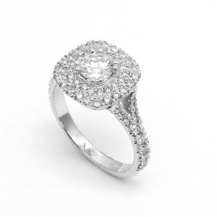 Бриллиантовая оправа кольца для камня от 0.5 карата
