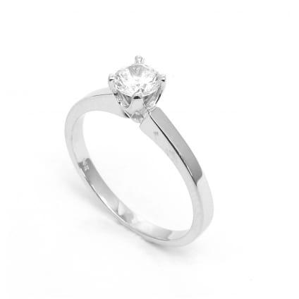 Классическая оправа кольца для 1 круглого бриллианта