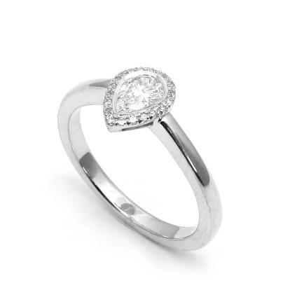 Стильная оправа кольца для бриллианта Груша 1 карат