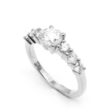Оправа стильного кольца с бриллиантом для помолвки