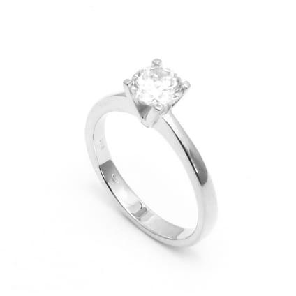 Тонкая оправа кольца для бриллианта от 1 карата